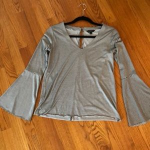 Luck brand flared sleeve top